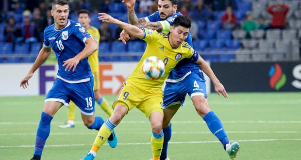 Казахстан - Кипр, фото Федерации футбола Казахстана